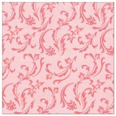 5 x  50 Servietten ROYAL Collection 1/4-Falz 40 cm x 40 cm rot Damascato
