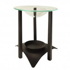 6 x  Duft Lampe, Metall Ø 12 cm · 14,5 cm schwarz inkl. Glasteller