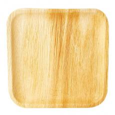 25 Teller, Palmblatt pure eckig 25,5 cm x 25,5 cm x 1,5 cm