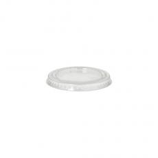 10 x  50 Deckel für Portionsbecher, PLA pure rund Ø 6 cm transparent