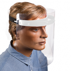 12 x  Gesichtsschutzset 25 cm weiss zum Selbstaufbau inkl. 2 Visiere
