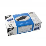 10 x  100 Handschuhe, Latex puderfrei schwarz Größe XL
