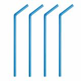 10 x  100 Shake-Halme, flexibel Ø 8 mm · 25 cm blau