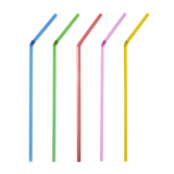 10 x  250 Trinkhalme, flexibel Ø 5 mm · 24 cm farbig sortiert