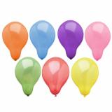 5 x  100 Luftballons rund Ø 19 cm farbig sortiert