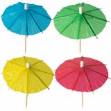 12 x  144 Deko-Picker 10 cm farbig sortiert Eisschirmchen uni