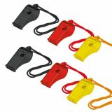 10 x  10 Trillerpfeifen 55 mm schwarz / rot / gelb