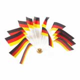 10 x  10 Flaggen, Papier 12 cm x 22 cm Deutschland
