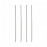 10 x  150 Trinkhalme PLA, starr pure Ø 6 mm · 21 cm weiss