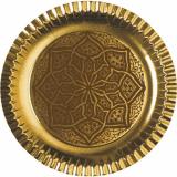 15 x  6 Teller, Pappe rund Ø 29 cm gold Ornament