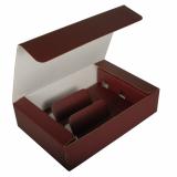 20 x  Wein-Präsentkarton 36 cm x 25 cm x 9 cm bordeaux für 3 Flaschen