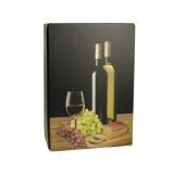 20 x  Wein-Präsentkarton 36 cm x 25 cm x 9 cm schwarz Weißwein für 3 Flaschen