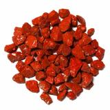 6 x  Deko - Steine 500 ml rot 9 - 13 mm