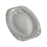 10 x  3 Servierplatten, Alu oval 43 cm x 29 cm