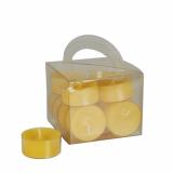 8 x  12 Teelichte Ø 38 mm · 18 mm gelb in Polycarbonathülle, durchgefärbt