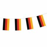 10 x  Flaggenkette, Papier 4 m Deutschland schwer entflammbar