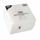 48 x  100 Servietten, 1-lagig 1/4-Falz 30 cm x 30 cm weiss