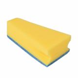 8 x  3 Keilschwämme 14 cm x 7,9 cm x 4,2 cm blau/gelb mit praktischem Mundrandreiniger