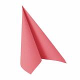 12 x  20 Servietten ROYAL Collection 1/4-Falz 33 cm x 33 cm rosa
