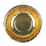 16 x  6 Schalen, Pappe rund Ø 16,5 cm · 2,9 cm gold
