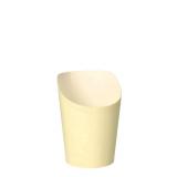 20 x  75 Snackbecher, Pappe To Go 0,16 l Ø 7,5 cm · 9,9 cm beige
