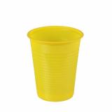 10 x  100 Trinkbecher, PS 0,18 l Ø 7,03 cm · 8,3 cm gelb
