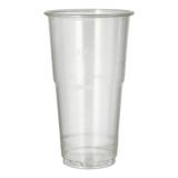 16 x  60 Kaltgetränkebecher, PLA pure 0,5 l Ø 9,5 cm · 16,2 cm glasklar mit Schaumrand