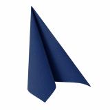 12 x  20 Servietten ROYAL Collection 1/4-Falz 33 cm x 33 cm dunkelblau