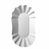 6 x  250 Schalen, Pappe pure oval 10,5 cm x 17,5 cm x 3 cm weiss