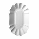4 x  250 Schalen, Pappe pure oval 9 cm x 16 cm x 3 cm weiss