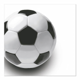 12 x  50 Servietten, 3-lagig 1/4-Falz 33 cm x 33 cm Soccer
