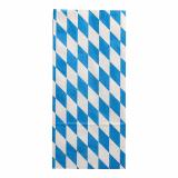 10 x  100 Hähnchenbeutel, Papier mit Alu-Einlage 28 cm x 13 cm x 8 cm Bayrisch blau 1/1