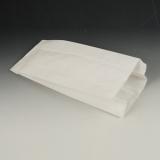1000 Papierfaltenbeutel, Cellulose, gefädelt 24 cm x 10 cm x 5 cm weiss Füllinhalt 0,75 kg