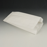 1000 Papierfaltenbeutel, Cellulose, gefädelt 28 cm x 13 cm x 7 cm weiss Füllinhalt 1,5 kg