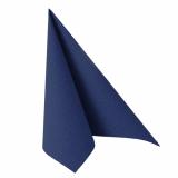 5 x  50 Servietten ROYAL Collection 1/4-Falz 48 cm x 48 cm dunkelblau
