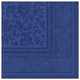 5 x  50 Servietten ROYAL Collection 1/4-Falz 40 cm x 40 cm dunkelblau Ornaments