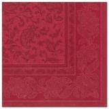 5 x  50 Servietten ROYAL Collection 1/4-Falz 40 cm x 40 cm bordeaux Ornaments