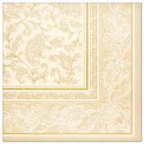 5 x  50 Servietten ROYAL Collection 1/4-Falz 40 cm x 40 cm champagner Ornaments