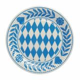 20 x  10 Teller, Pappe rund Ø 23 cm Bayrisch Blau