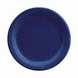 25 x  20 Teller, Pappe rund Ø 23 cm dunkelblau