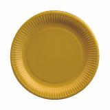 25 x  20 Teller, Pappe rund Ø 23 cm gelb