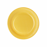 10 x  50 Teller, Pappe rund Ø 23 cm gelb
