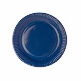 10 x  50 Teller, Pappe rund Ø 23 cm dunkelblau