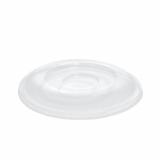 10 x  50 Dom-Deckel, R-PET rund Ø 15,5 cm · 2,5 cm klar