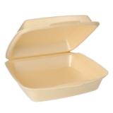 4 x  50 Menüboxen mit Klappdeckel, XPS ungeteilt 7,5 cm x 22,5 cm x 22 cm beige laminiert