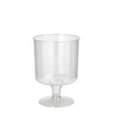 20 x  10 Stiel-Gläser für Rotwein, PS 0,2 l Ø 7,2 cm · 10 cm glasklar einteilig
