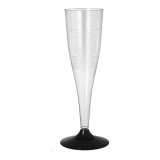 12 x  5 Stiel-Gläser für Sekt, PS 0,1 l Ø 5 cm · 17,5 cm glasklar