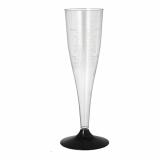 14 x  6 Stiel-Gläser für Sekt, PS 0,1 l Ø 5 cm · 17,5 cm glasklar