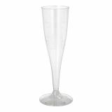 10 x  10 Stiel-Gläser für Sekt, PS 0,1 l Ø 5,1 cm · 17 cm glasklar einteilig