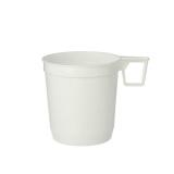 25 x  40 Kaffeetassen, PS 0,25 l Ø 8 cm · 8,5 cm weiss